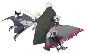 Картинка девушки, парень, трое, Fate / Grand Order, Судьба великая кампания