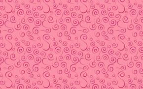 Картинка pattern, swirls, розовый, pink, текстура, узор