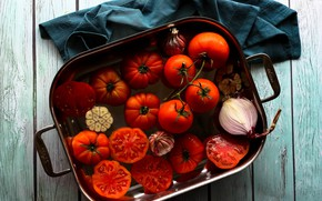 Картинка посуда, красные, помидоры, томаты