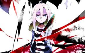 Картинка девушка, аниме, Ангел кровопролития, Satsuriku no Tenshi