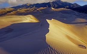 Картинка горы, пустыня, дюны, Колорадо, США, Great Sand Dunes National Park and Preserve