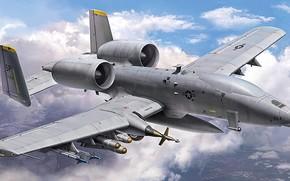 Картинка art, airplane, aviation, jet, uav, a10 thunderbolt 2