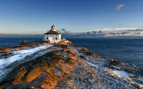 Картинка океан, побережье, маяк, Канада, Canada, мыс, Атлантический океан, Atlantic Ocean, Newfoundland and Labrador, Ньюфаундленд и …