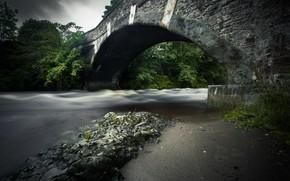 Картинка мост, природа, река