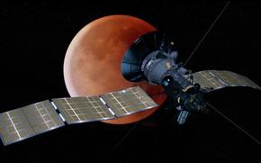 Картинка космос, спутник, кровавая луна