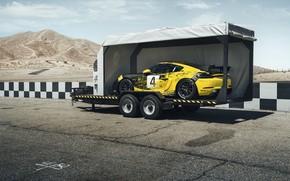Картинка машина, купе, Porsche, спортивная, прицеп, Clubsport, 718, Cayman GT4