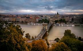 Картинка Hungary, Budapest, Chain Bridge, St. Stephen's Basilica
