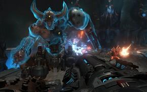 Картинка апокалипсис, робот, персонаж, DOOM Eternal