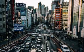 Картинка город, улица, Токио