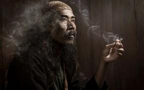 Картинка человек, портрет, сигарета
