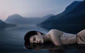 Картинка девушка, в воде, Alexander Shark
