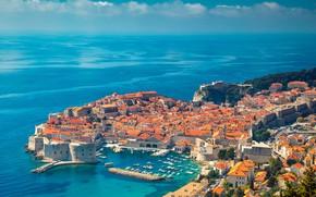Картинка море, панорама, Хорватия, Дубровник