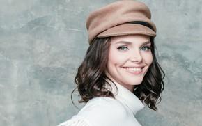 Картинка поза, улыбка, макияж, актриса, кепка, hair, makeup, Elizaveta Boyarskaya, Елизавета Боярская