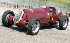 Картинка Колеса, Капот, Спицы, Alfa Romeo, Classic, Scuderia Ferrari, Grand Prix, 1935, Classic car, Sports car, …