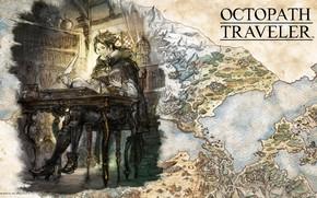 Картинка fantasy, game, map, digital art, professor, artwork, fantasy art, books, teacher, Octopath Traveler, Cyrus Albright