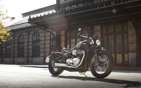 Картинка Bike, Triumph, Bonneville, Motorcycle, Bobber