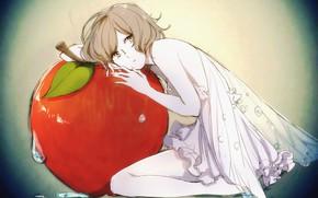 Картинка девушка, яблоко, фея