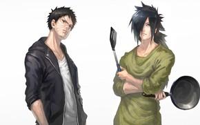 Картинка парни, Наруто, Naruto, сковорода, Обито Учиха, Мадара Учиха