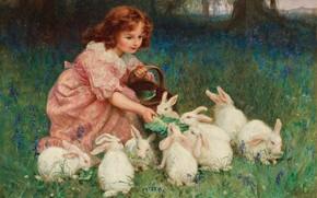 Картинка Alice in Wonderland, Алиса в Стране Чудес, британский живописец, British painter, Фредерик Морган, Frederick Morgan, …