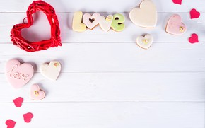 Картинка подарок, сердце, love, heart, pink, romantic, cookies