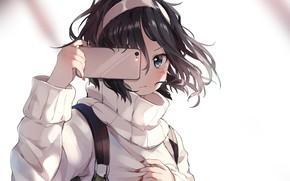 Картинка девочка, смартфон, селфи