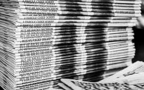 Картинка макро, фон, газеты