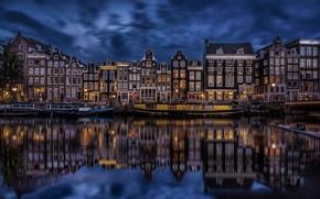 Картинка Holland, Amsterdam, Singel Canal