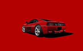Картинка Ferrari, Legend, Scuderia Ferrari, RED, Testarossa, Backgraund
