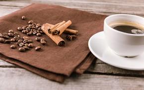 Картинка Кофе, корица, кофейные зерна
