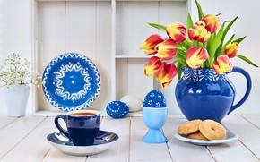 Картинка кофе, завтрак, печенье, композиция, Anya Ivanova