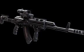 Обои рендеринг, оружие, тюнинг, автомат, gun, weapon, render, кастом, Калашников, Custom, АКМ, Калаш, AKM, штурмовая винтовка, ...