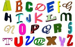Картинка буквы, белый фон, английский, алфавит