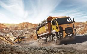 Картинка ford, cargo, 8x4, dump truck