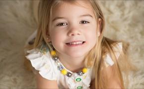 Картинка улыбка, портрет, ребёнок, девОЧКА