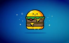 Картинка еда, бутерброд, двойной чизбургер