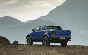 Картинка горы, синий, обрыв, Ford, Raptor, пикап, 2018, Ranger