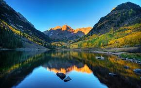 Картинка озеро Марун, Колорадо, горы, США