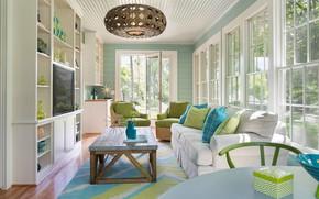 Картинка окна, интерьер, windows, гостиная, mid-century modern, sunroom