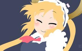 Картинка девушка, улыбка, девочка, Kobayashi-San Chi no Maid Dragon, Дракон-Горничная Кобаяши