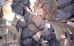Картинка девушка, флаг, Fate / Grand Order, Судьба великая кампания