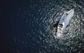 Картинка море, яхта, парус, Адриатика