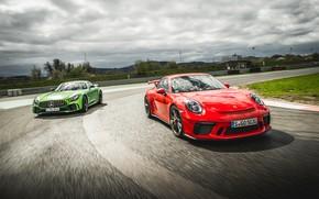 Обои 911, Porsche, Mercedes, AMG, GT3, GT R