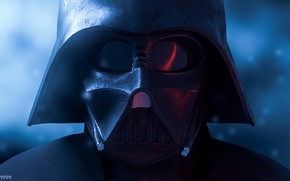 Картинка фантастика, маска, Star Wars, арт, Darth Vader, art