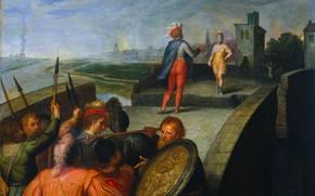 Картинка масло, картина, 1613, Отто ван Веен, Otto van Veen, Мирные переговоры между Клавдием Цивилисом и