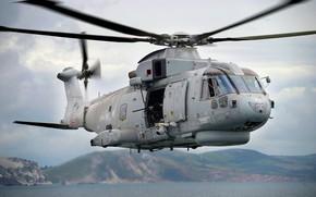 Картинка Вертолет, AgustaWestland, Королевские ВМС, Royal Navy, AgustaWestland AW101, Merlin HM.Mk 1