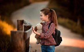 Картинка игрушка, ребенок, мишка, девочка, Сухарь Александр