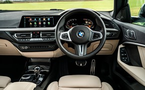 Картинка BMW, руль, салон, Gran Coupe, UK-spec, 2-Series, M Sport, 2020, 218i, F44