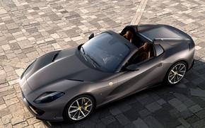 Картинка машина, фары, Ferrari, спорткар, GTS, 812