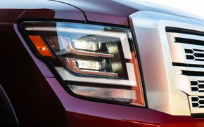 Картинка фара, Nissan, пикап, Titan, 2020, Titan XD Platinum Reserve