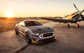 Картинка закат, Ford, RTR, 2018, Mustang GT, Eagle Squadron